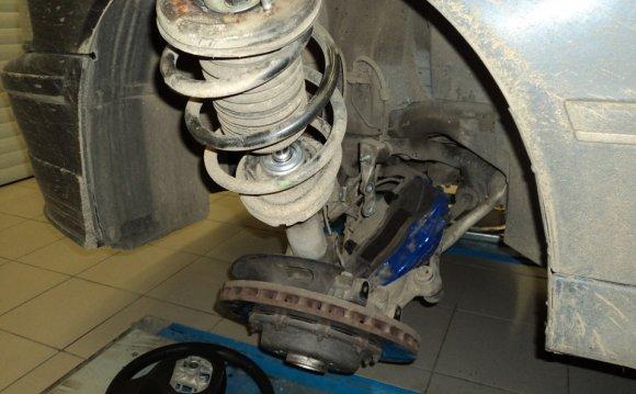 Замена передних амортизаторов. — бортжурнал BMW 5 series Alpina